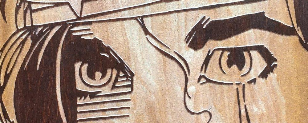 laser engraved skateboard sunken rags