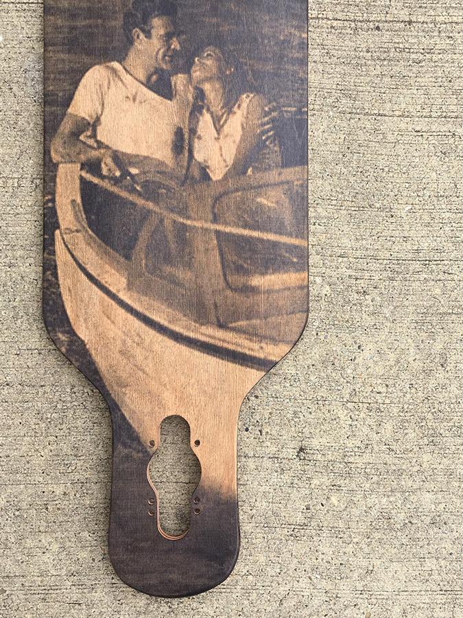 longboard personnalisé avec photo