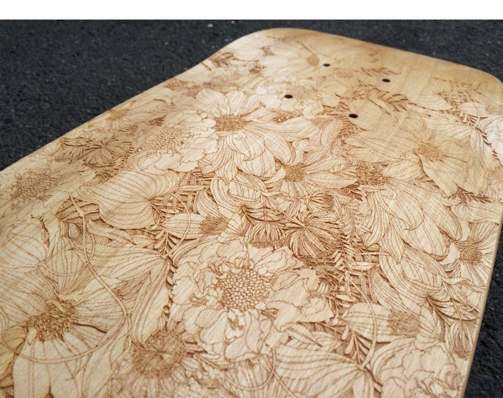 Engraving on raw wood
