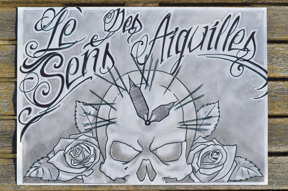 original drawing by le sens des aiguilles