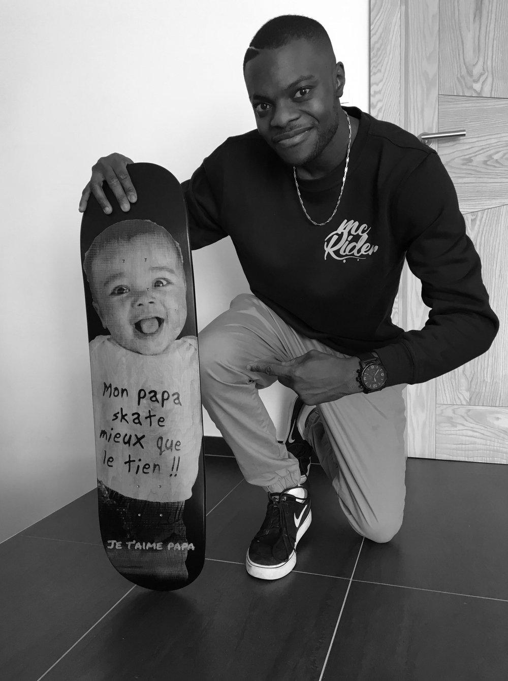 Cadeau d'anniversaire pour un papa skateur