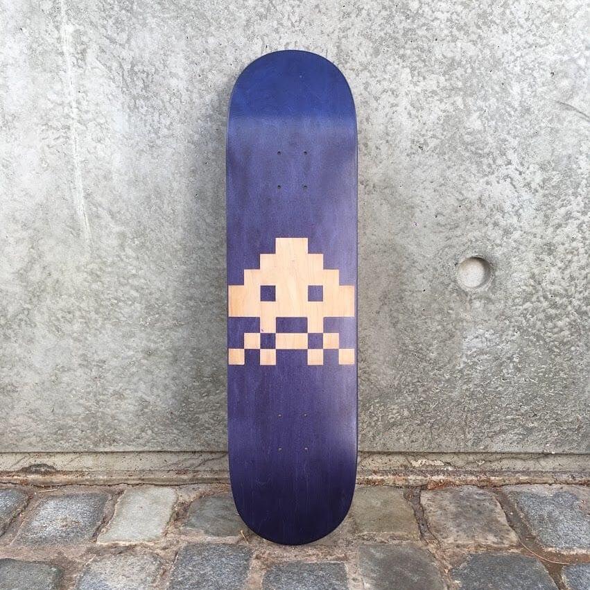 laser etched skateboard
