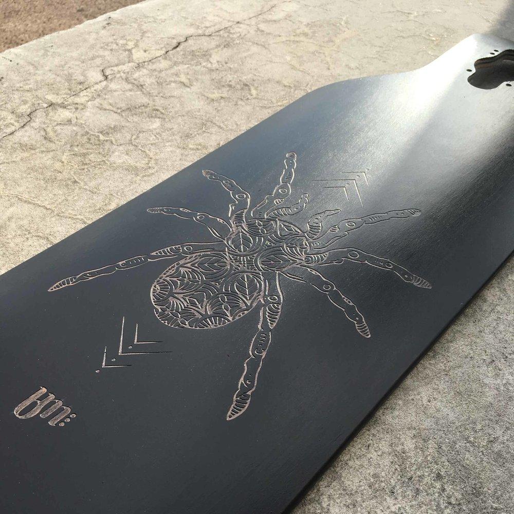 custom longboard deck