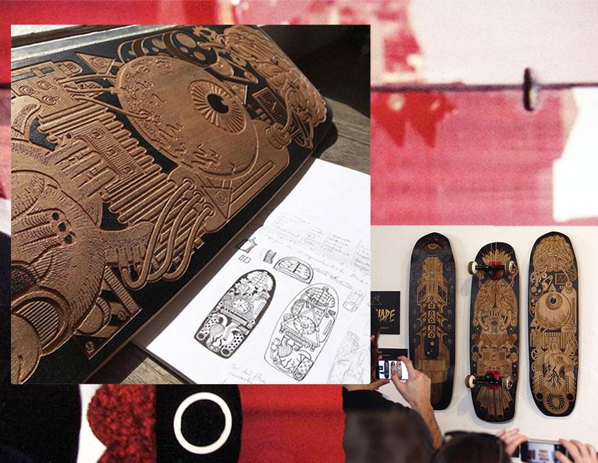 Artwork by Flex - Mecca Skateboarding