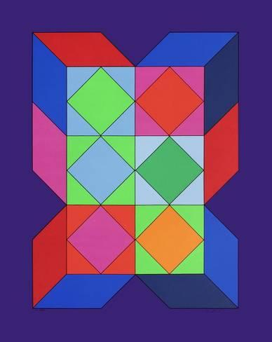 This painting from Vasarely plays with colors, it's not the recommended type of pictures…