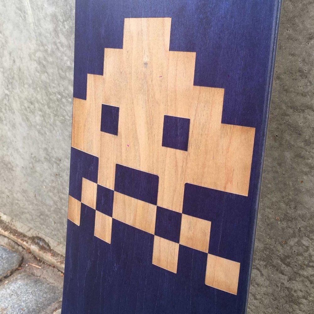 laser carving skate deck