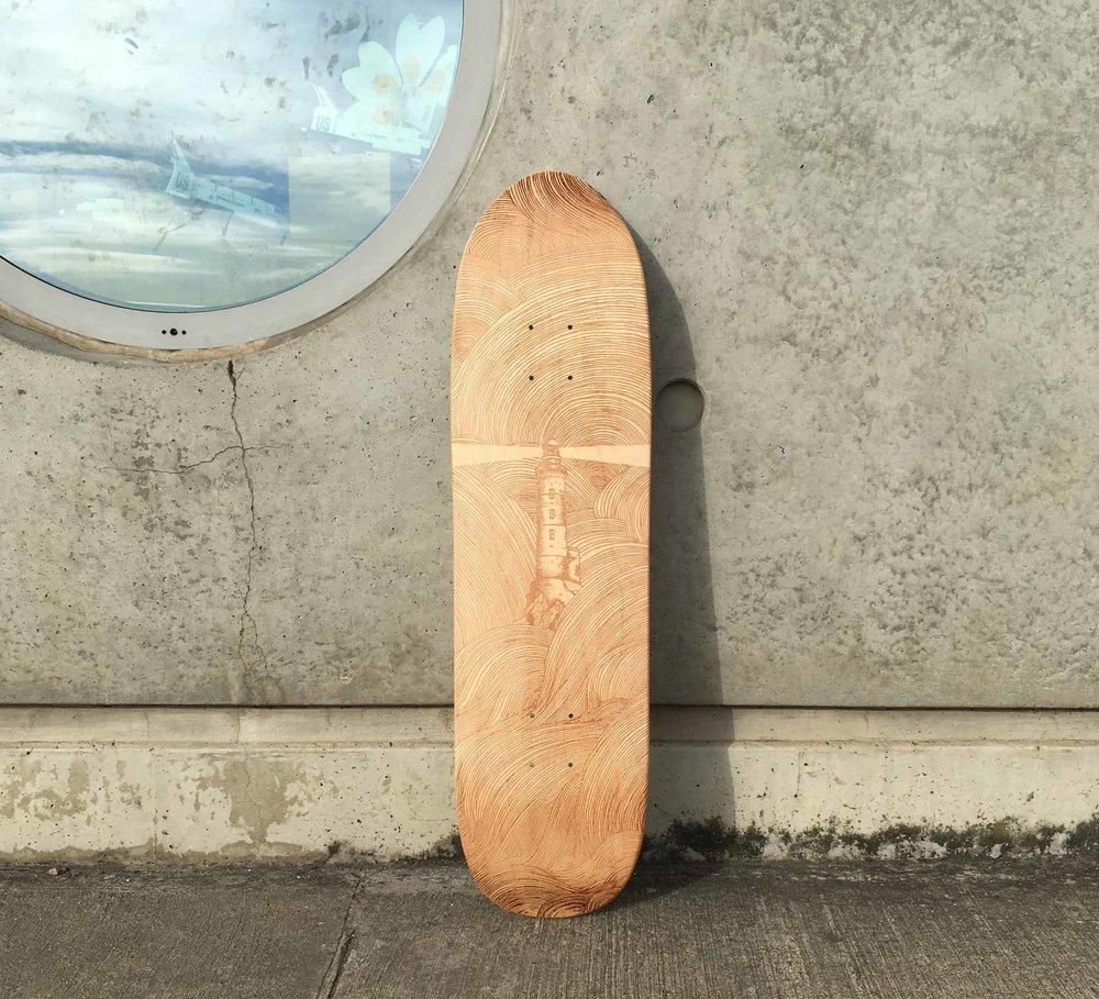 Le skateboard custom par gravure laser
