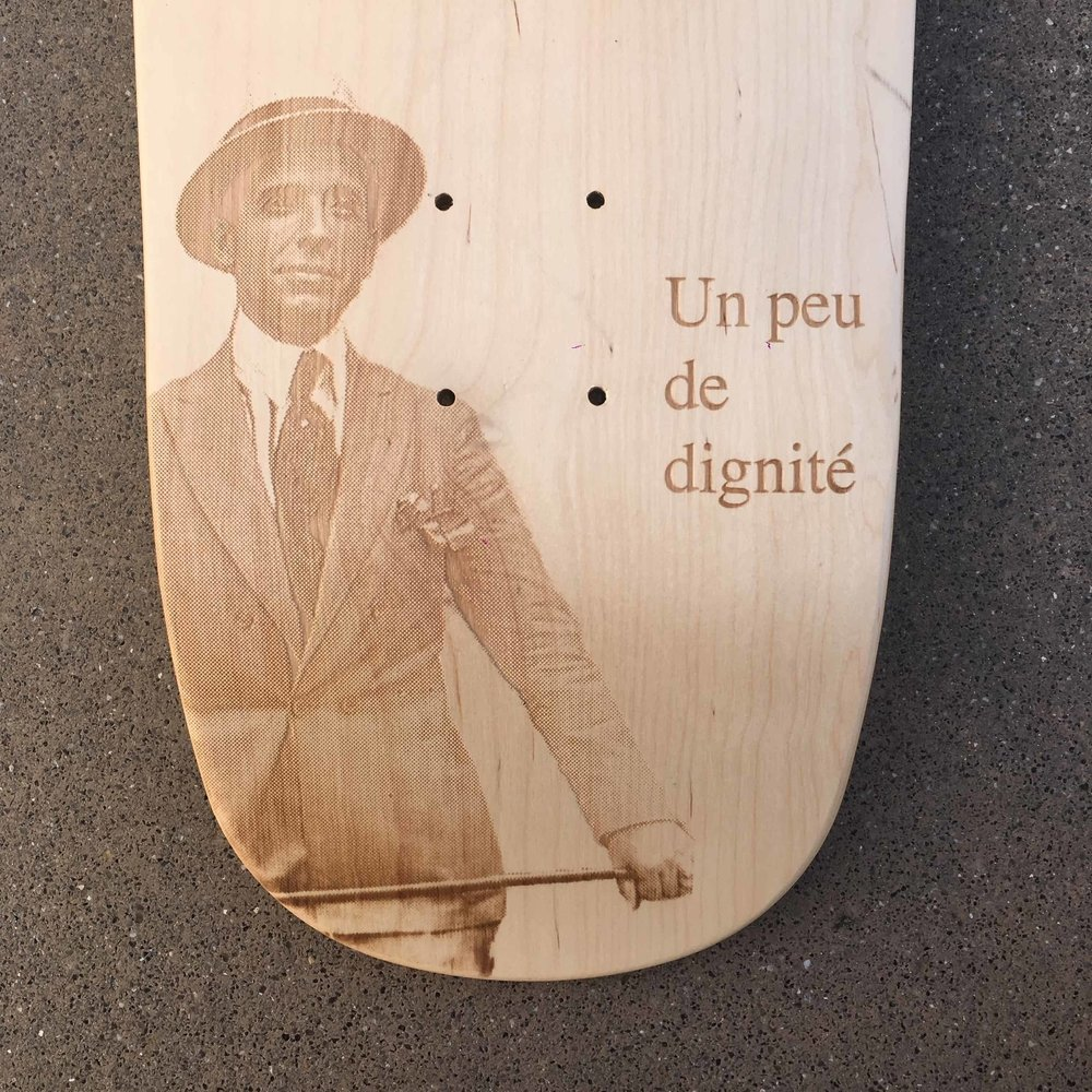 The result laser engraved on raw wood