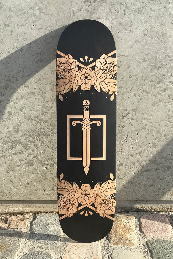 Skateboard créé par Vivianne