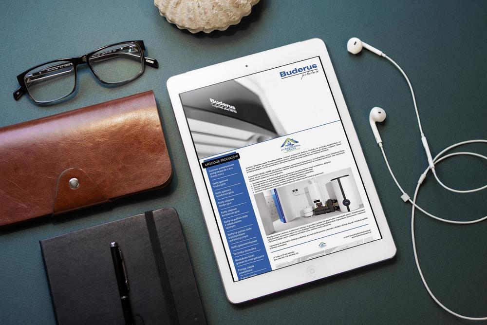 Projekt + wdrożenie strony www. buderus-poludnie.pl