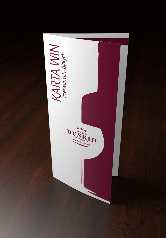 Przygotowanie graficzne karty win. Kreda mat 300 + folia mat. Format 99x297mm