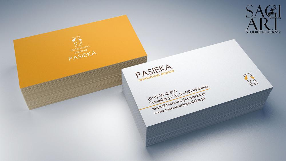 Przygotowanie graficzne + druk wizytówek 90x50mm. Papier kreda mat 350g + folia mat + lakier uv wybiórczo.