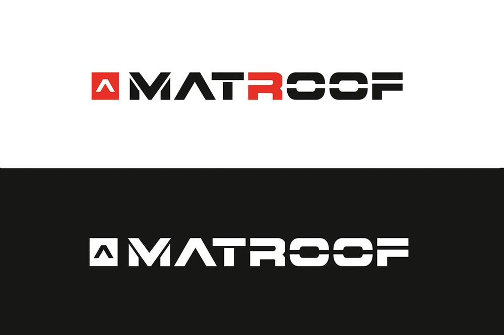 Projekt logotypu dla firmy dekarskiej, który był początkiem kompletnej identyfikacji wizualnej.