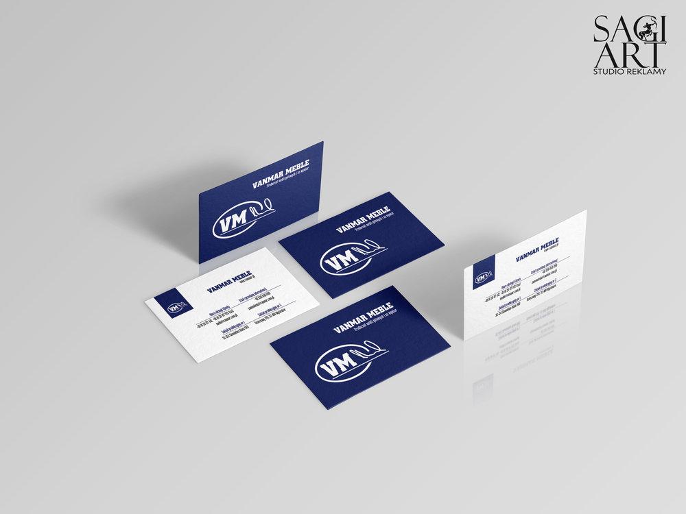 Przygotownie graficzne = druk wizytówek. Kreda mat 350g + folia mat + hot stamping ze srebrną folią