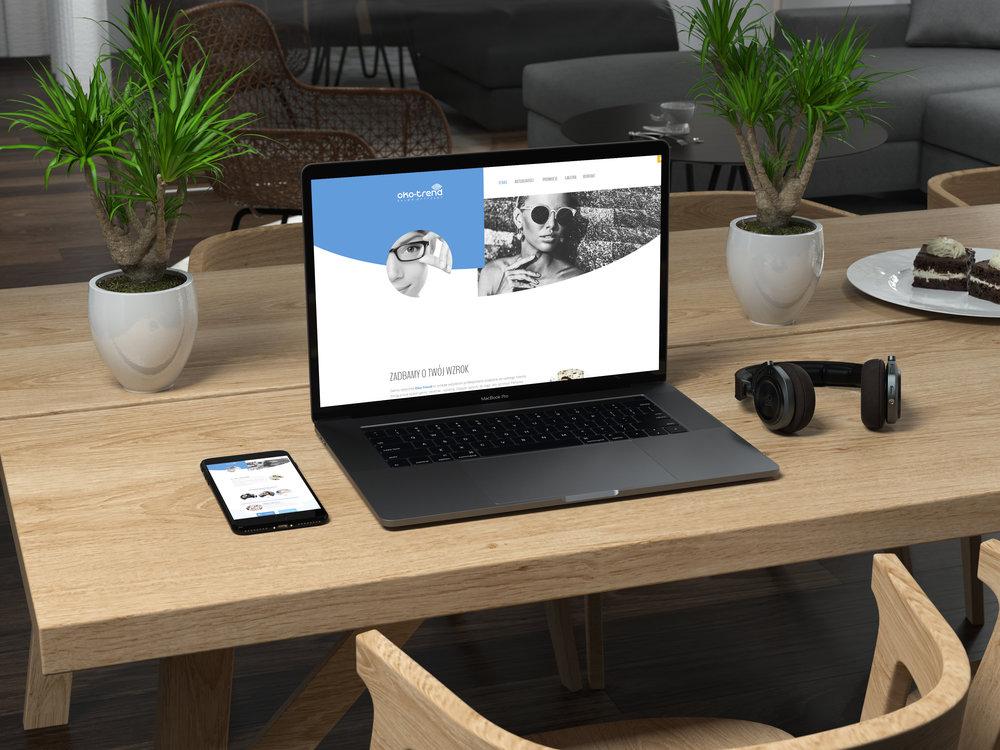 Przygotowanie graficzne i wdrożenie systemu dla strony  www.oko-trend.pl