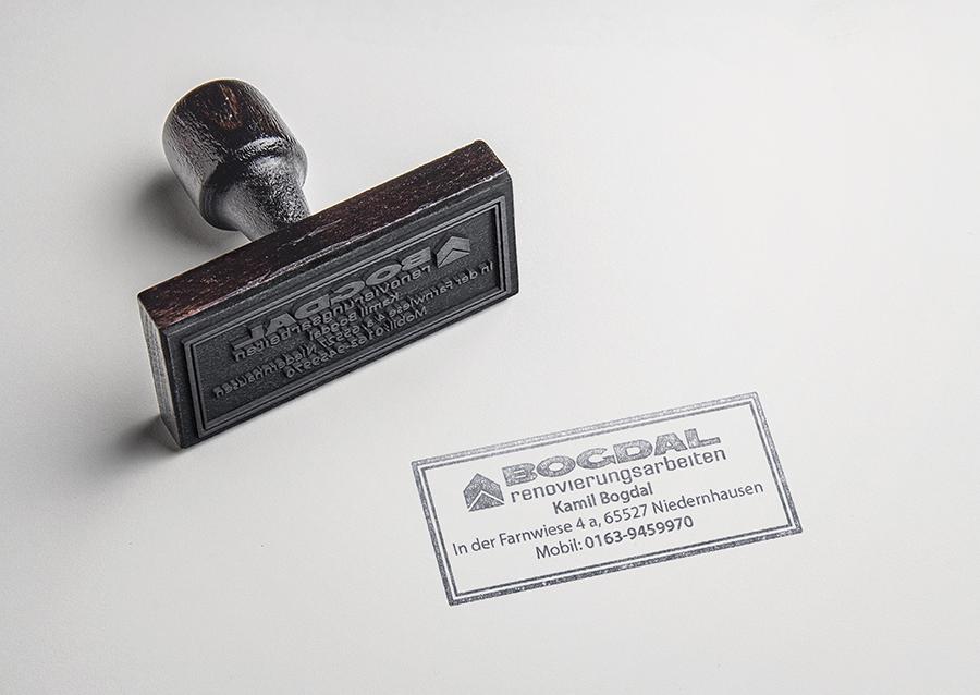 Wykonanie pieczątki w formacie 59x27mm