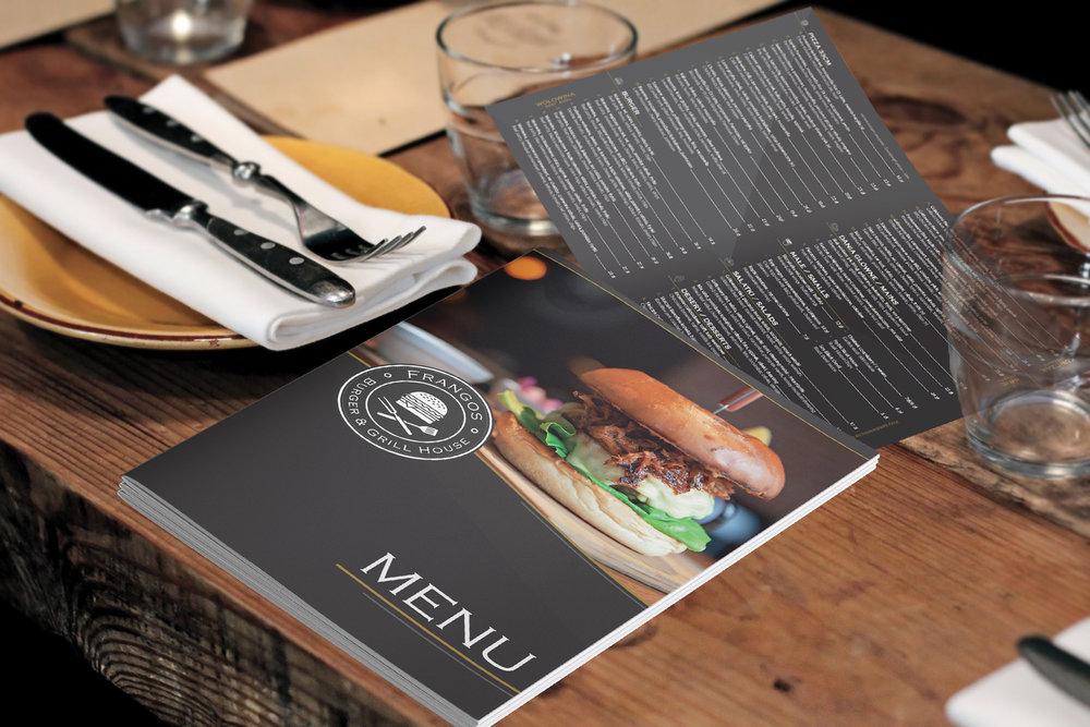 Przygotowanie i druk kart menu. Kreda Syntetic 300g