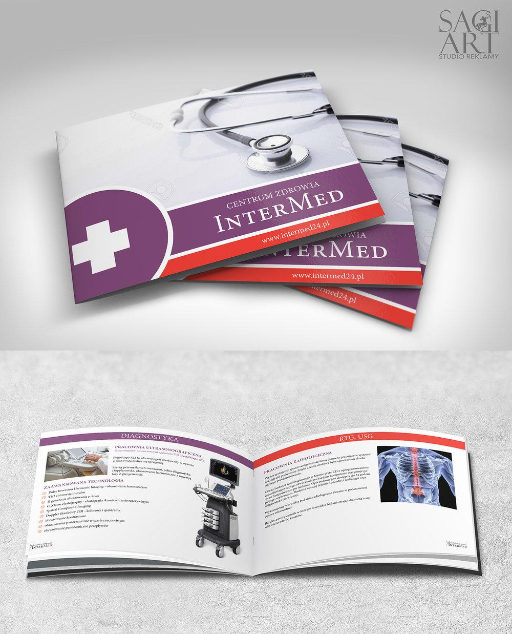 Przygotowanie graficzne oraz druk katalogów B5. Orientacja pozioma, papier kredowy, foliowania + lakier uv 3d