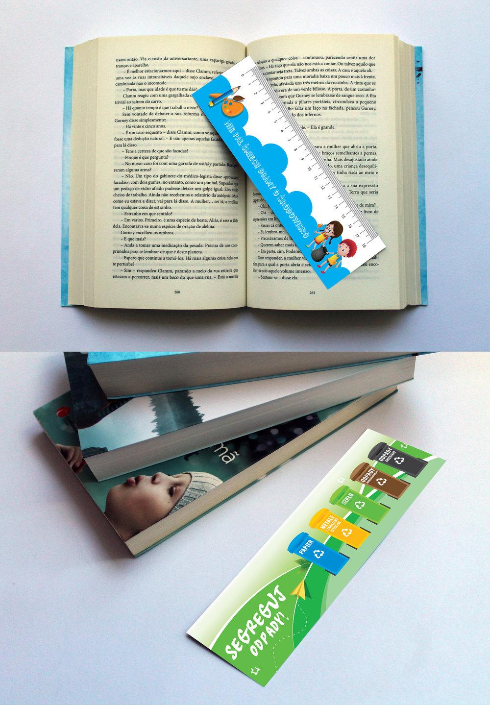 Projekt oraz druk zakładek do książek