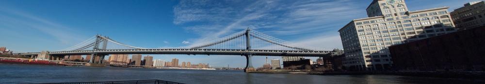 Manhattan Bridge from Brooklyn, January 2012