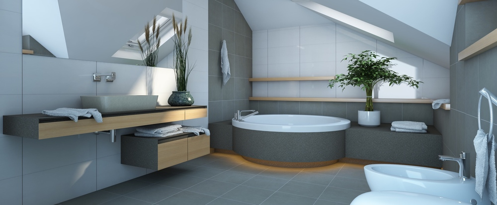 Bathroom in Grey and White Colours      © krooogle - Fotolia.com