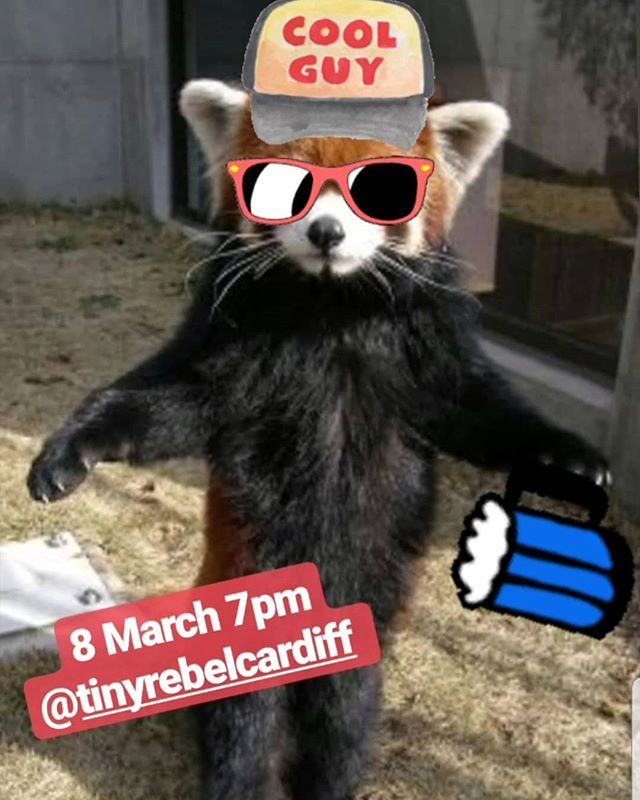 Come be cool like this guy. 8 March we support @nightflightband and @ralphtaylor100 at @tinyrebelcardiff (@orchard_live presents). #livemusic #indiemusic #cardiff #cardiffmusic #gig #womanbystreet 👍😎🕺🏻