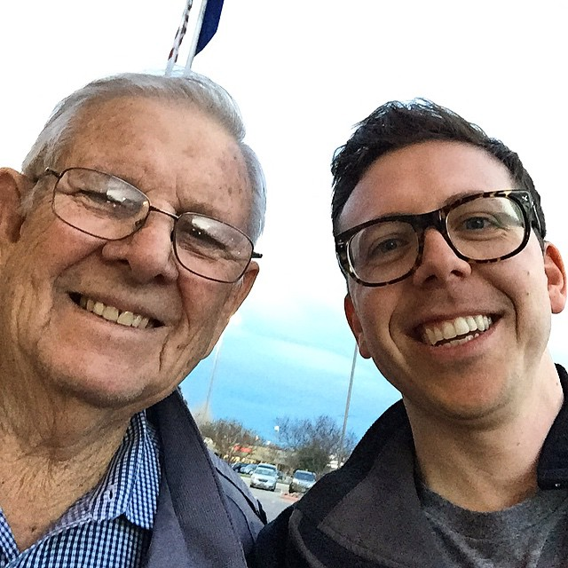 Great day hanging out with my PaPa Jim. So happy that there is going to be another Jim Barrett in the world soon.