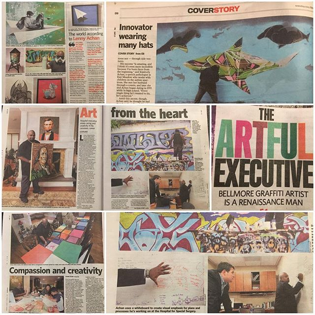 Great coverage @Newsday - thanks again! #fineart #contemporaryart #nyc #canvas #graffitiart #streetart #urban #wallart #spraypaint #mural #murals #painting #artwork #artshow #artgallery #modernart #abstract #sculpture #artnews  #dogs  #origami #artcollector #lennyachan visit www.lennyachan.com