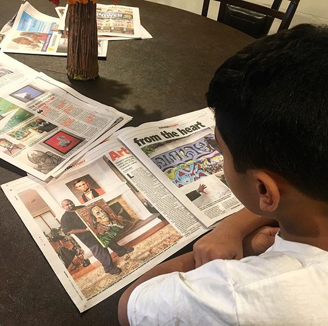 What an amazing feeling to see how happy my son is to open the Sunday paper this morning and reading about his dad and our family and friends! Thank you @Newsday for the cover story of the life section! You did an amazing job explaining me- even to myself! Quotes by my mentors and friends and my fam @zimad_art @connieklepper @conniekristine @lenkatsmom25 @sport_lenny  #fineart #contemporaryart #nyc #canvas #graffitiart #streetart #urban #wallart #spraypaint #mural #murals #painting #artwork #artshow #artgallery #modernart #abstract #sculpture #artnews  #dogs  #origami #artcollector #lennyachan visit www.lennyachan.com