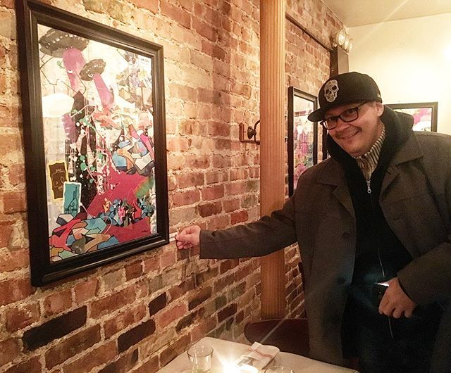 Congrats to my brother @zimad_cbs  @zimad_art for crushing it last night at his opening at @cornelia_street_cafe - check out his work and be inspired!#fineart #contemporaryart #nyc #canvas #graffitiart #streetart #urban #wallart #spraypaint #mural #murals #painting #artwork #artshow #artgallery #modernart #abstract #sculpture #artnews  #origami #artcollector