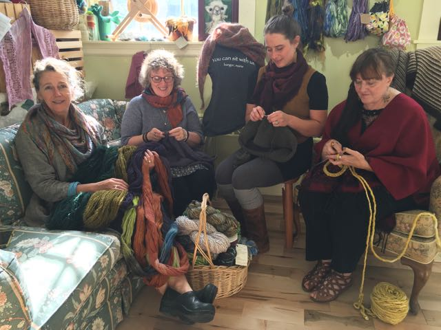 Jodi, me, Cara, and Joy. You can knit with us.