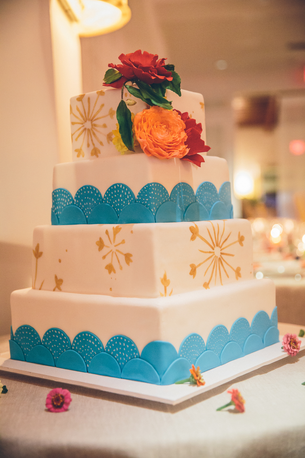 Indian Theme Wedding Cake
