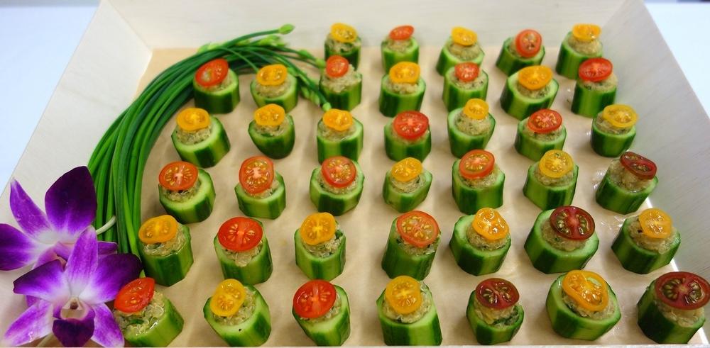 Vegan Stuffed Cucumber