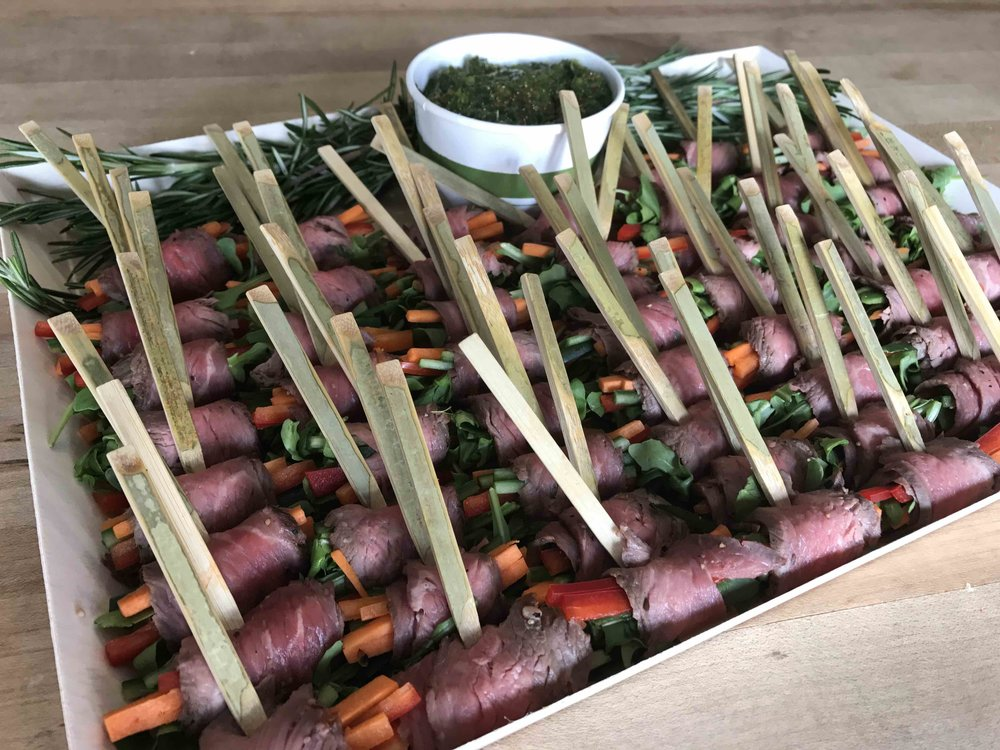 Chimichurri Flank Steak Skewers