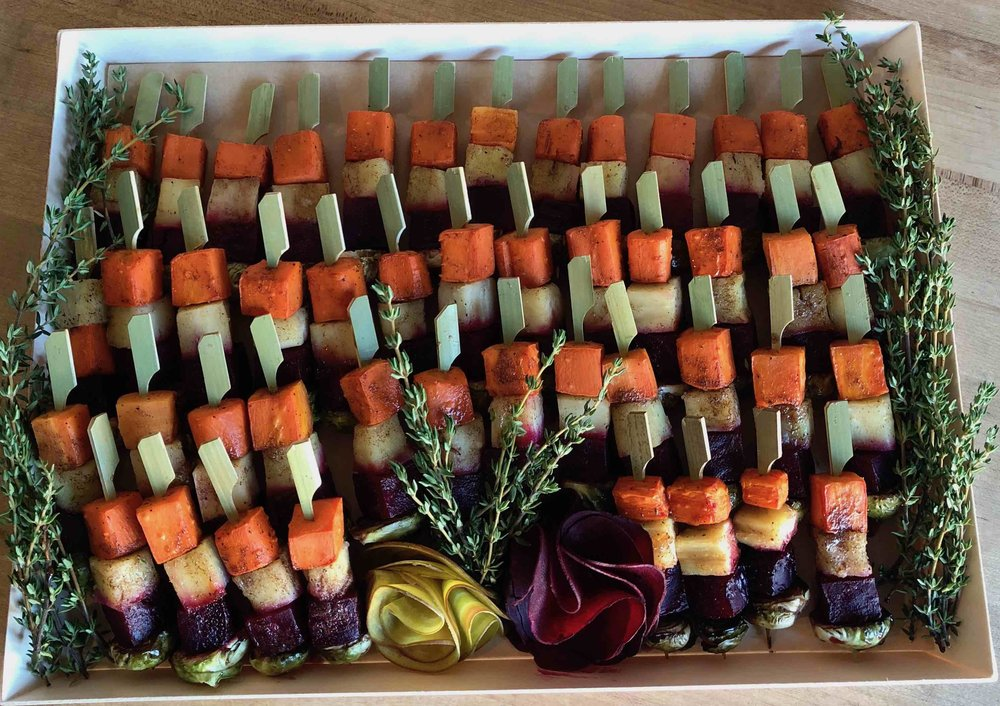 Copy of Harvest Vegetable Skewer - Dish Food To Go - Drop Off Catering