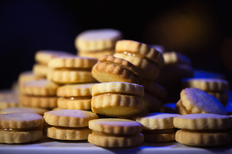 Mini Caramel Cookie Sandwiches by Dish Food & Events Catering