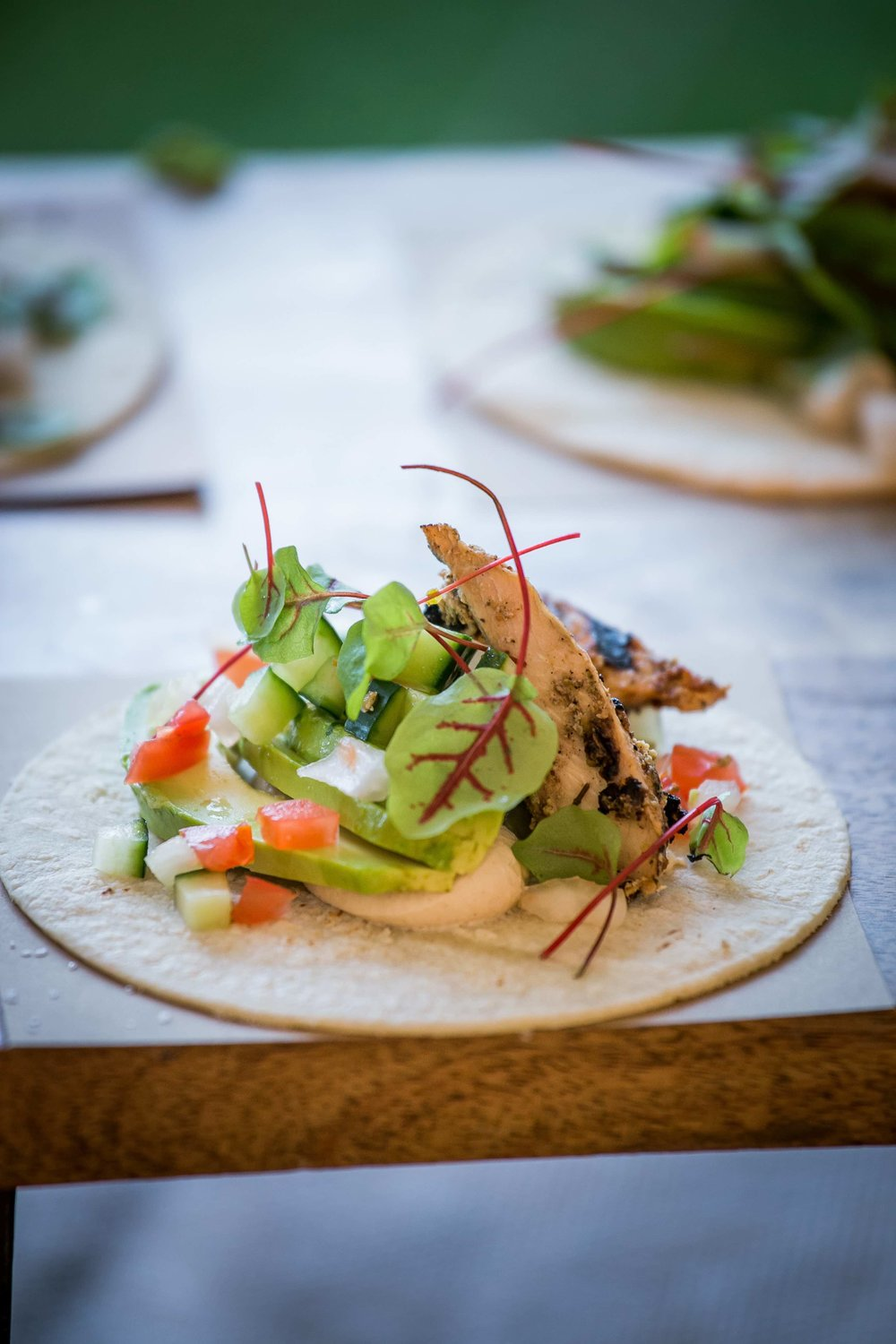 Za'atar Chicken Taco (Fusion Taco Station) by Dish Food & Events Catering