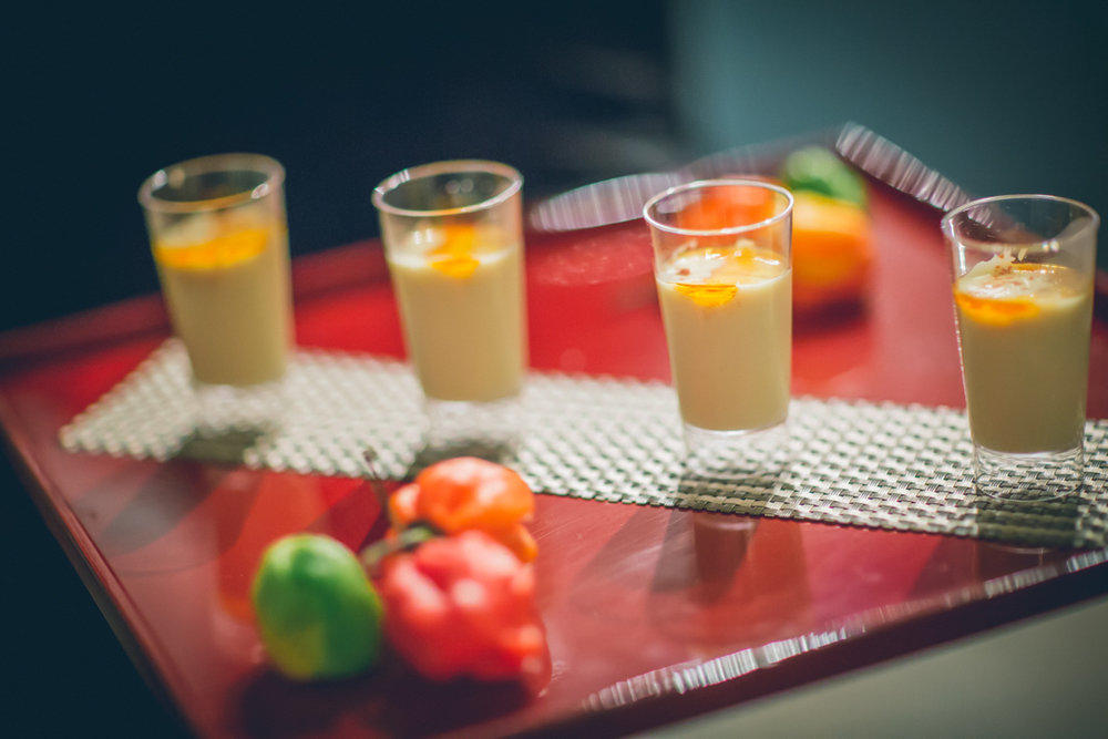 Sweet Corn Soup Shooter by Dish Food & Events Catering