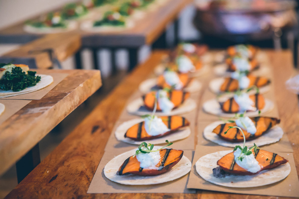 Sweet Potato Tacos (Fusion Taco Station) by Dish Food & Events Catering