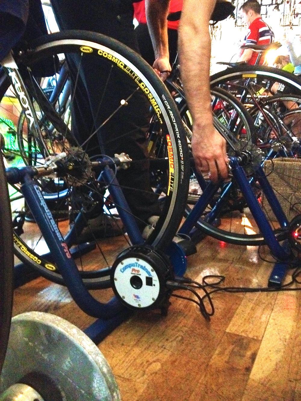 Setting up a bike on the compu-trainer