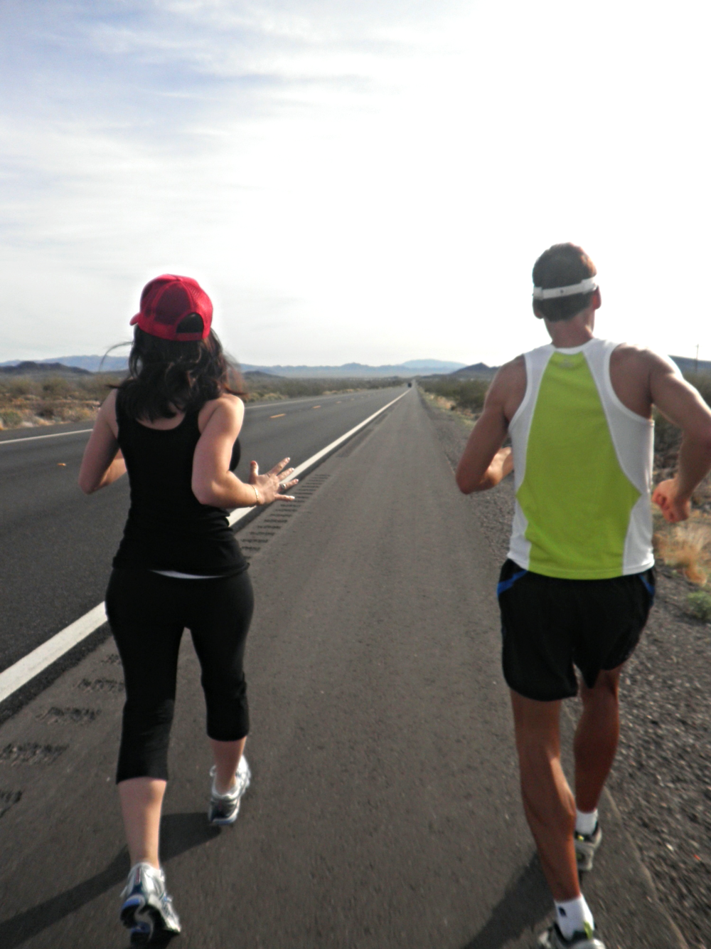 Dean and I running in the California desert, March, 2011.