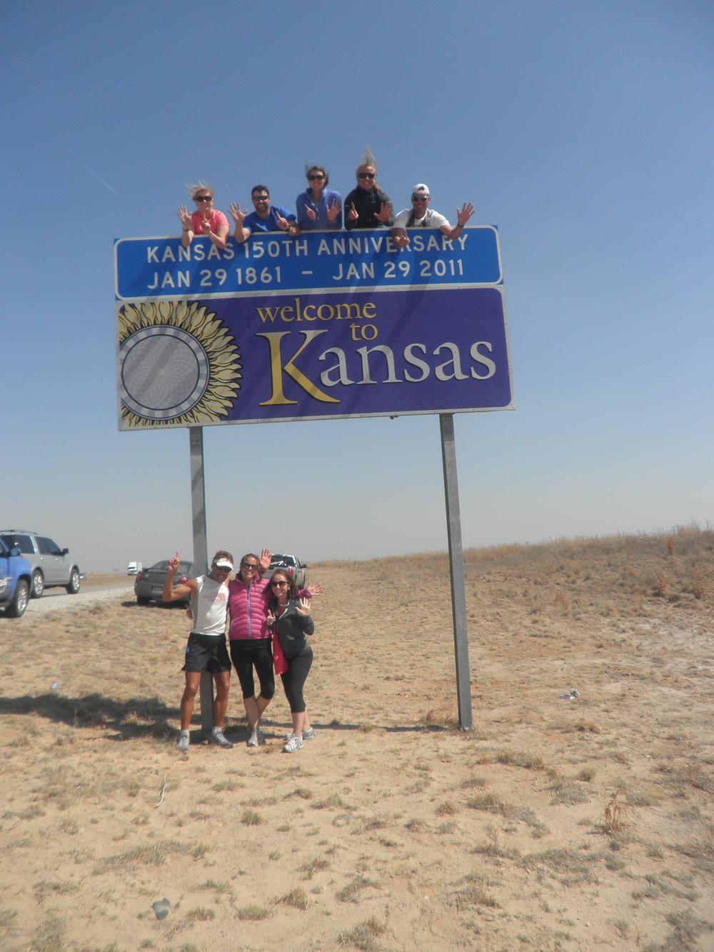 The 6th state we hit- Kansas!
