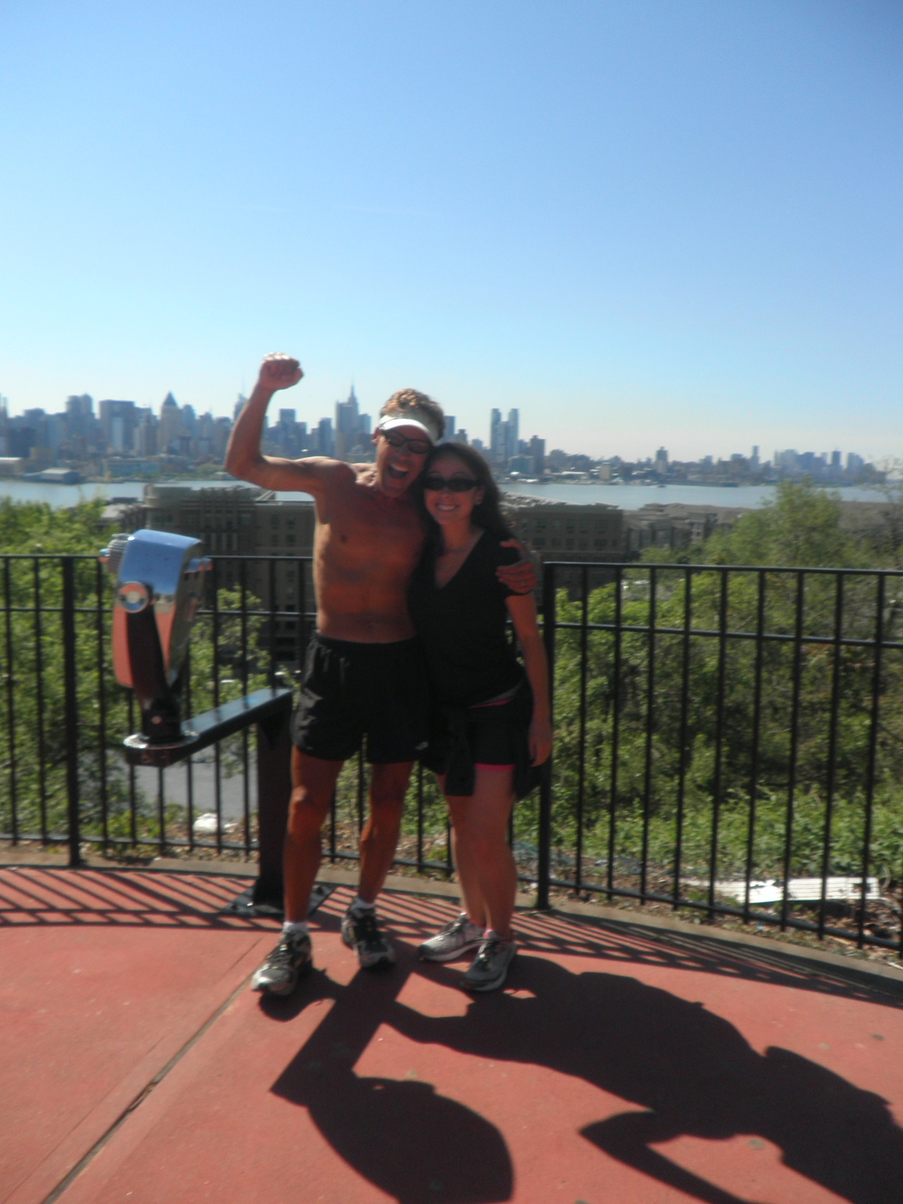 Dean and I finally seeing the NYC skyline.