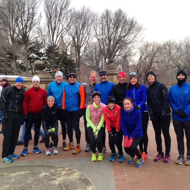The Terrier Tri team just before Sunday's long run on 3/1.