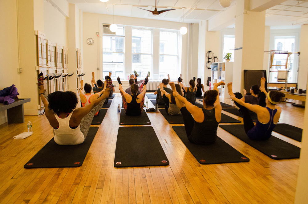 Holdin it steady at Core Pilates NYC.