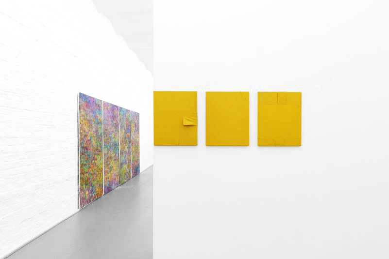 Installation view, Threesome, Berthold Pott ( Jean-Baptiste Bernadet (left) Samuel François (right) )
