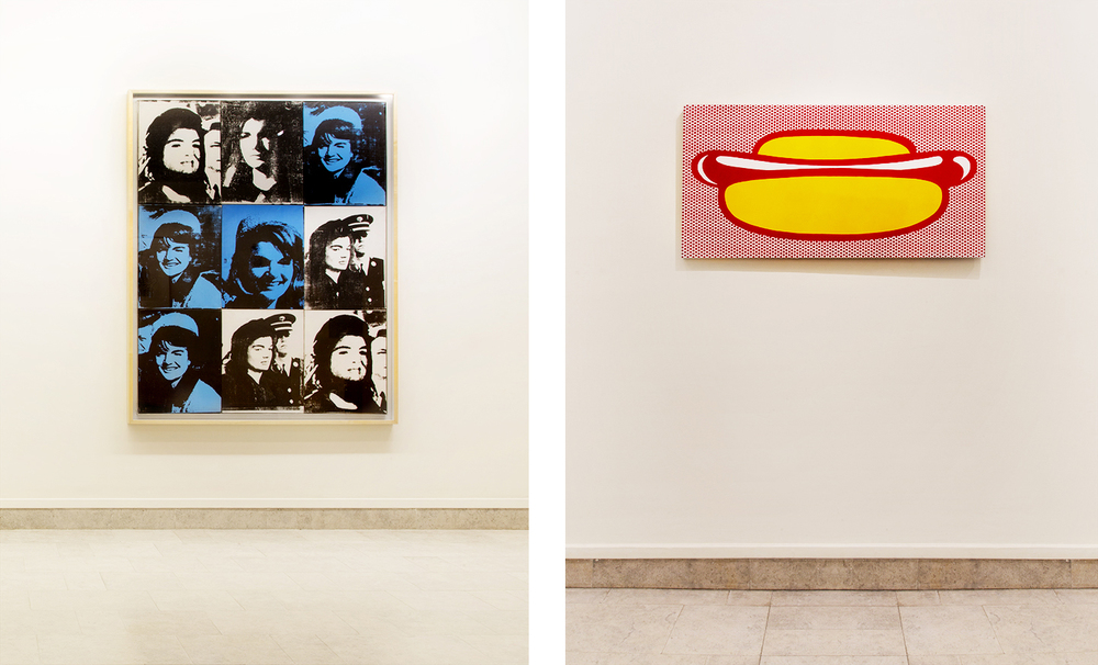 Andy Warhol (left), Roy Lichtenstein (right)