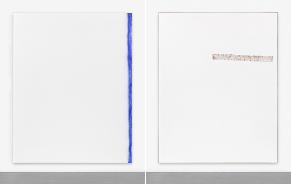 David Ostrowski,  F (A thing is a thing in a whole which it's not)(left), F (imagine if)(right) , 2014