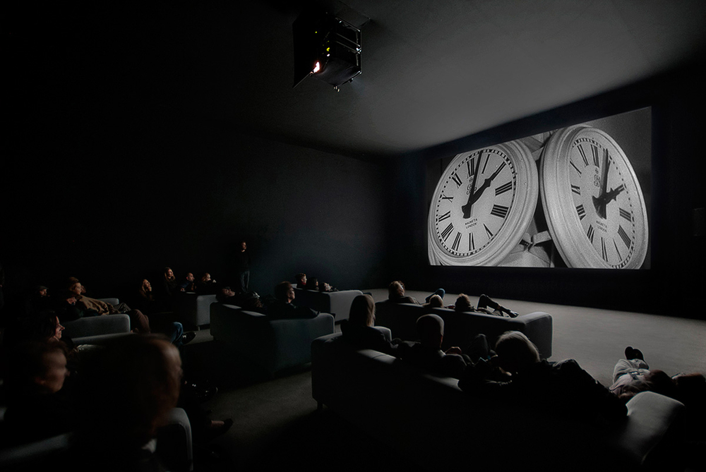 Installation view,  The Clock,  Christian Marclay