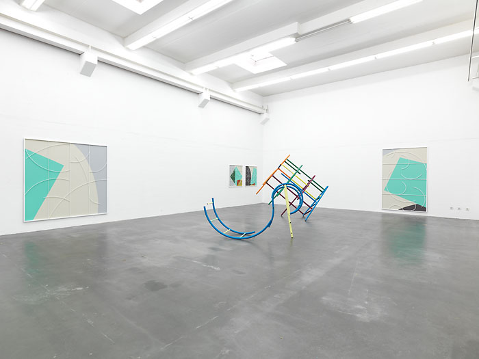 Installation view, Building Systems, Berthold Pott